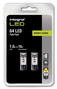 G4 LED Bulb Twin Pack | 12V LED Capsle x 2 | Warm White | 10-15W Halogen Equivalent